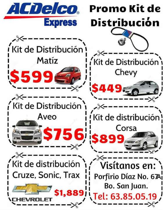 Ofertas de ACDelco, Promos Kit de Distribución ACDelco