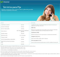 Servicios - Linea Fija