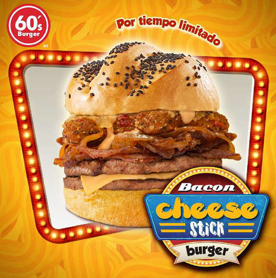 Ofertas de Sixties Burger, Bacon Cheese Stick