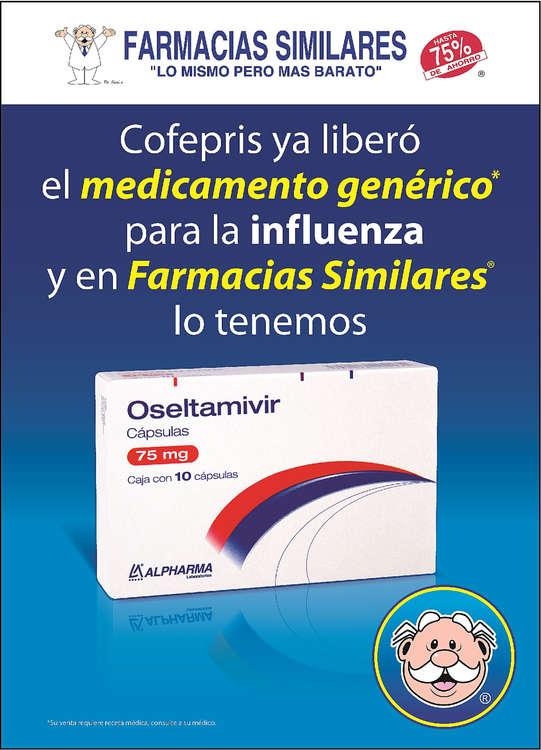 Ofertas de Farmacias Similares, Medicamento genérico para la infuenza