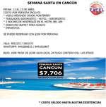Ofertas de Excel Tours, Viaja a Cancún en Semana Santa
