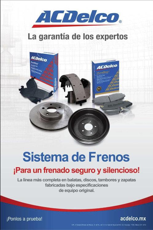 Ofertas de ACDelco, Sistema de frenos
