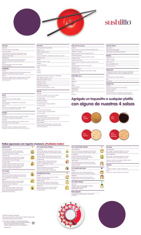 Ofertas de Sushi Itto, Menú