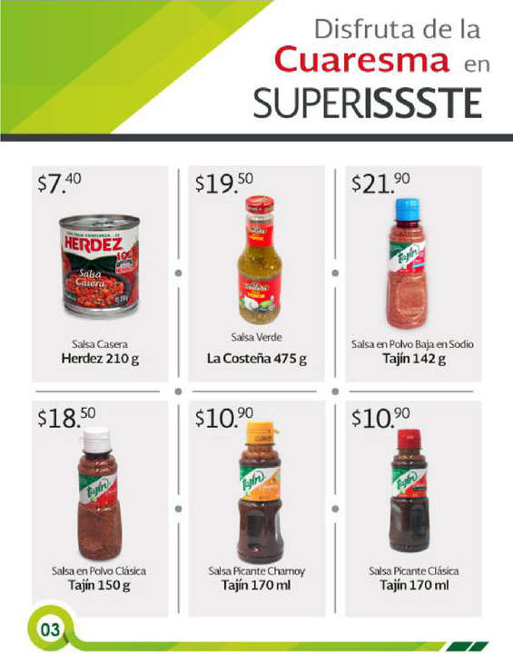 Ofertas de SUPERISSSTE, Folleto mensual