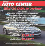 Ofertas de Sears, Auto Center Servicio cada 10,000 KMS