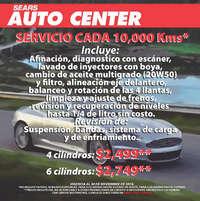 Auto Center Servicio cada 10,000 KMS