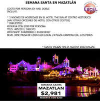 Viaja a Mazatlán en Semana Santa