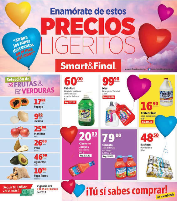 Ofertas de Smart & Final, Enamórate de estos precios ligeritos