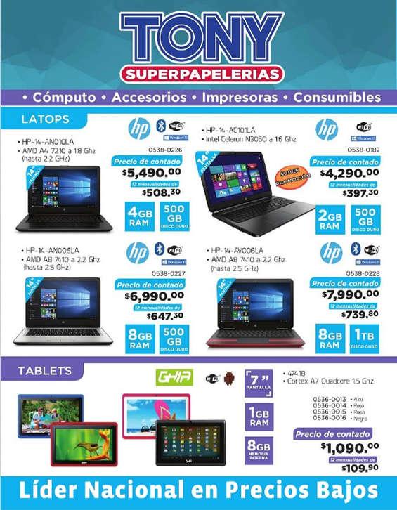 Ofertas de Tony Super Papelerías, Computony