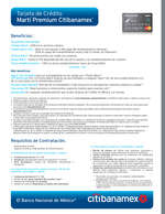 Ofertas de Citibanamex, Tarjeta de crédito Martí premium