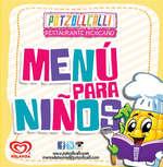 Ofertas de Potzollcalli, Menú Para Niños