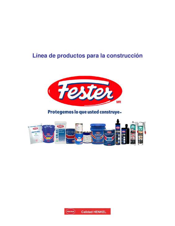Ofertas de Fester, Linea de Productos para Construcción