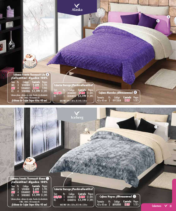 Ofertas de Colchas Concord, Catálogo Cobertores Suave_Textura