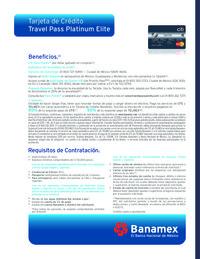 Tarjeta de crédito Travel Pass Platinum Elite