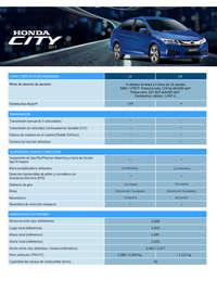Ficha técnica Honda City