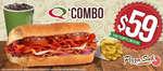 Ofertas de Quiznos Sub, Combo