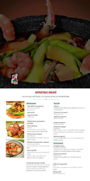 Ofertas de Los Arbolitos, Menú Mariscos