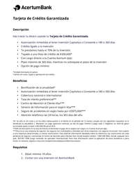 Tarjeta AcertumBank - Banco Azteca