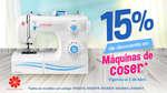 Ofertas de Modatelas, 15% de descuento en máquinas de coser