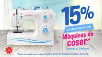 15% de descuento en máquinas de coser