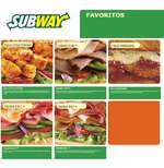 Ofertas de Subway, Menú