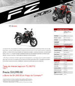 Ofertas de Yamaha, FZ Series FZ16 2015