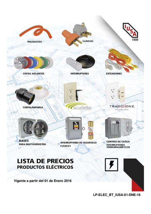 Ofertas de Elektrón, Lista de Precios 2016