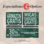 Ofertas de Especialistas Ópticos, Armazón y micas graduadas GRATIS
