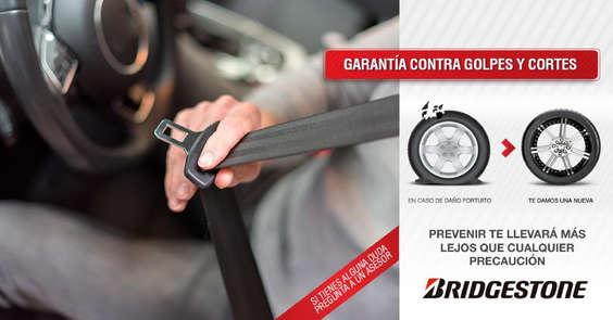 Ofertas de Bridgestone, Garantía contra golpes y cortes
