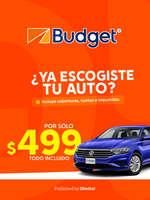 Ofertas de Budget, Tu auto por sólo $499