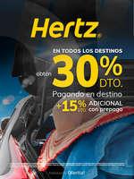 Ofertas de Hertz, Obtén 30% de descuento + 15% adicional