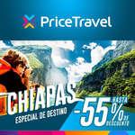 Ofertas de Price Travel, Chiapas hasta 55% de descuento