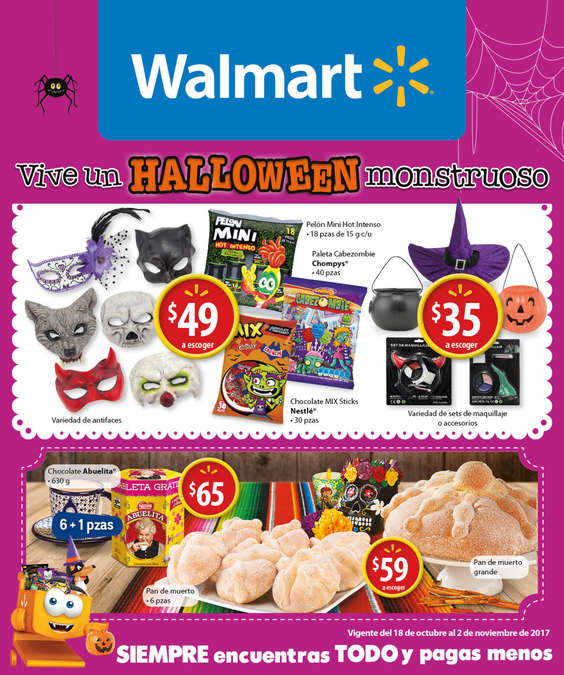 Ofertas de Walmart, Vive un Halloween monstruoso
