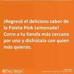 Ofertas de Nutrisa, Pink lemonade