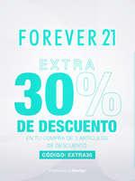 Ofertas de Forever 21, Extra 30% de descuento