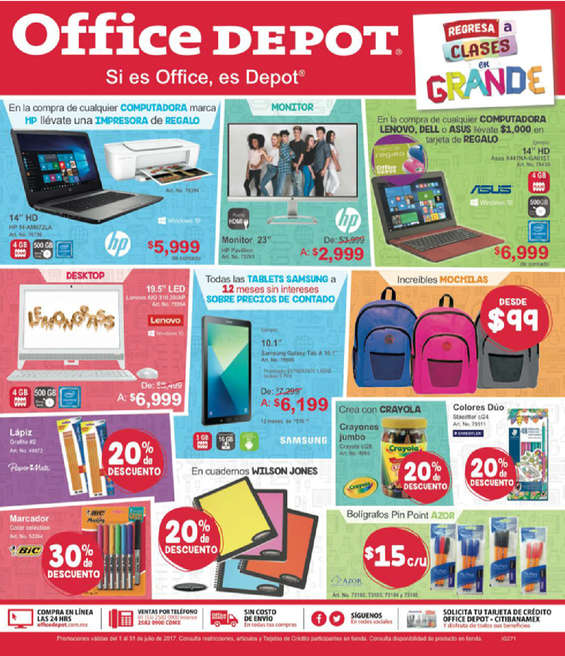 Office depot ofertas cat logos y folletos ofertia for Muebles para computadora office depot