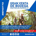 Ofertas de Benotto, Gran venta de bodega