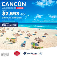 Cancún vuelo redondo directo