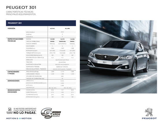 Ofertas de Peugeot, Peugeot 301
