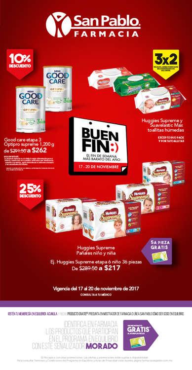 Ofertas de San Pablo Farmacia, buen fin 2017
