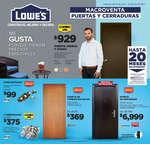 Ofertas de Lowes, Macroventa Puertas y cerraduras