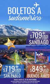 Boletos a Sudamérica