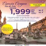 Ofertas de Mega Travel, Esencia Europea Fin de Año