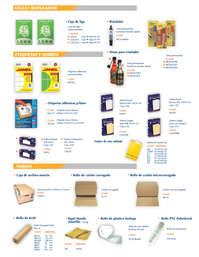 Productos para acabados, empaque y envío