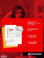 Ofertas de Santander, Requisitos para tu tarjeta de crédito