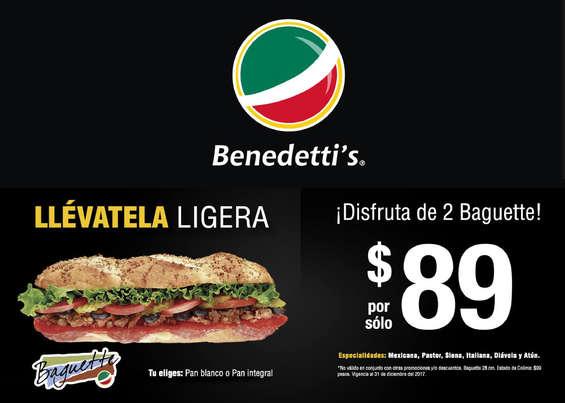 Ofertas de Benedettis, Baguette