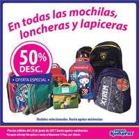 Promo mochilas y loncheras