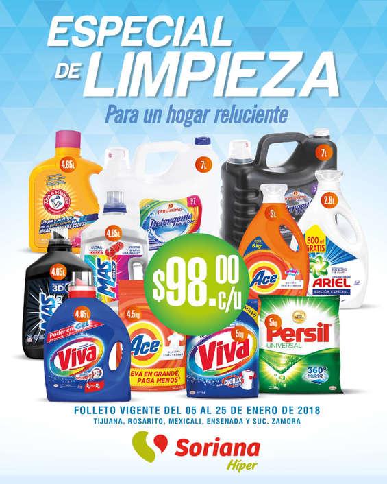 Ofertas de Soriana Híper, Especial de limpieza
