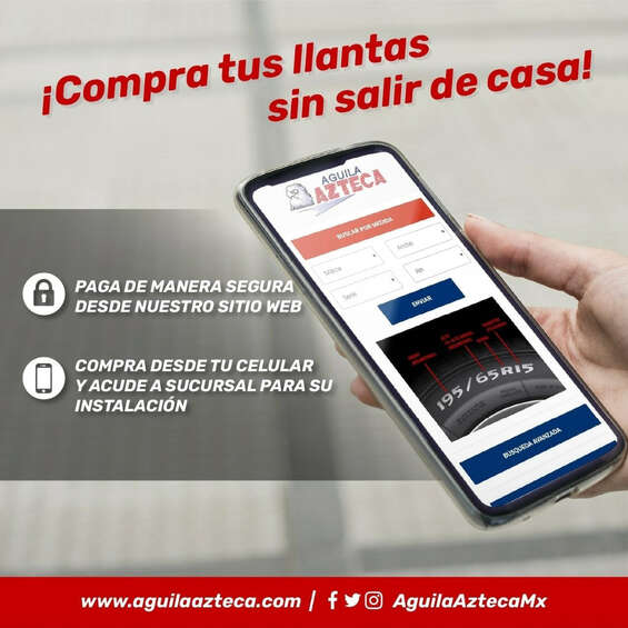 Ofertas de Águila Azteca, Compra sin salir de casa