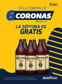 En la compra de 6 Corona Mega, la 7a es gratis
